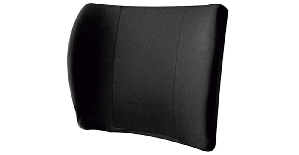 Cojín ergonómico lumbar para silla - negro