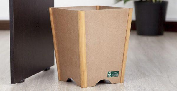 papelera de piso lineal