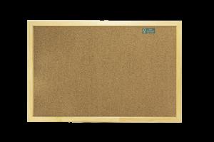 Cartelera de corcho marco madera