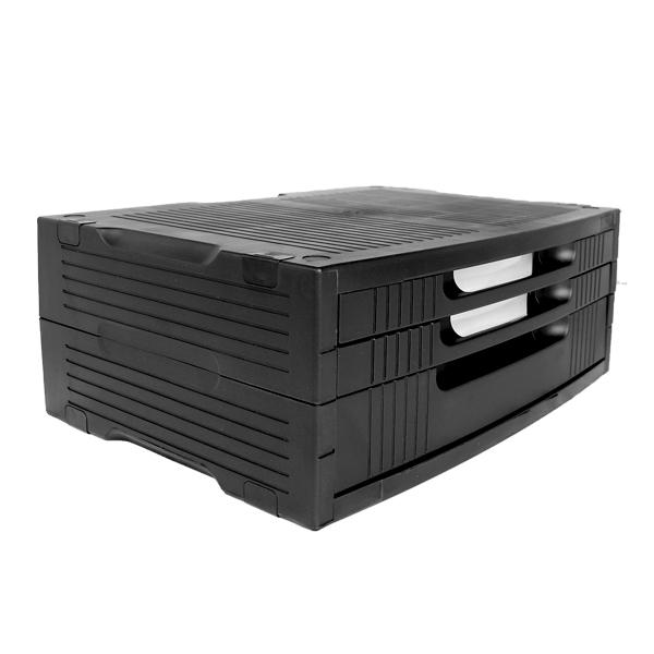 Base para monitor con 3 cajones