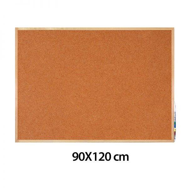 Cartelera en corcho 90 x 120 CM marco en madera